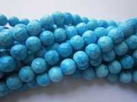 8 inch turquoise faceted round 6mm-7mm beads single strand