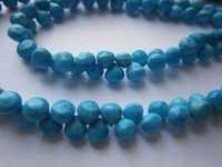 8 inch turquoise faceted onion 6mm beads single strand