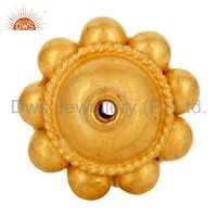 18K Solid Yellow Gold Spacer Bead