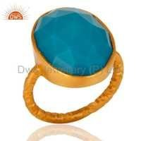 Natural Turquoise Gemstone Silver Ring