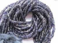 iolite plain tyre 4-5mm plain tyre single strand beads 13inch