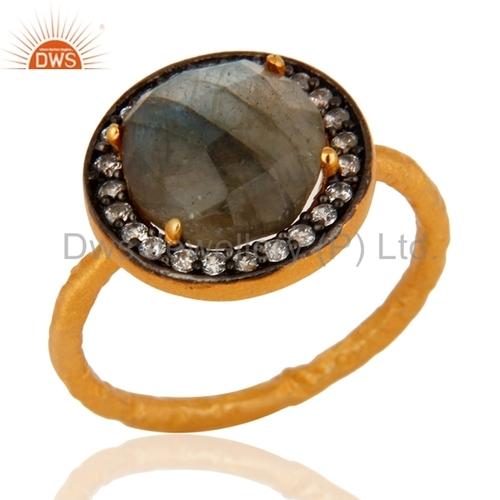 925 Sterling Silver Labradorite Ring