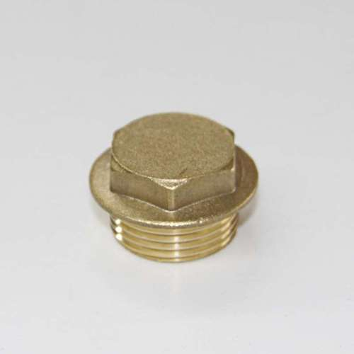 Stop Plug Brass Square Head