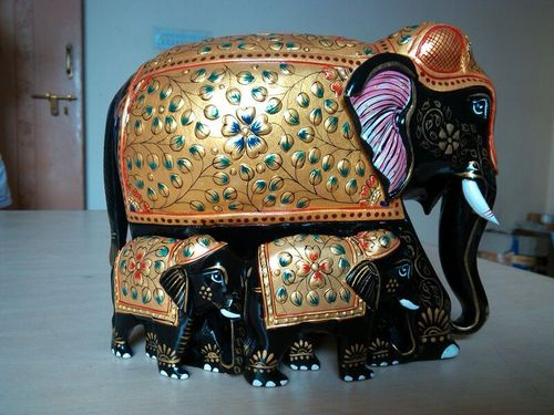 Papire machie elephants embossed