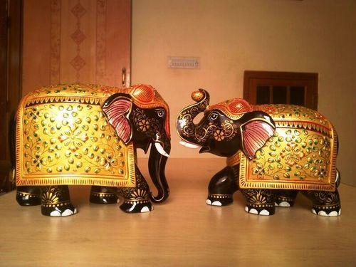 Papire machie elephants embossed