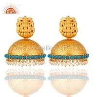 South Indian Temple Earrings Jewelry