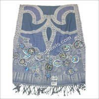 Jamawar Embroidered Stole