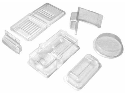 Blister packaging trays