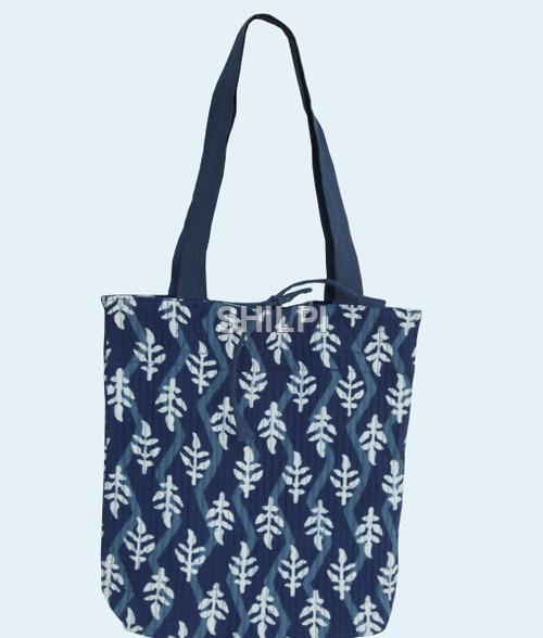 Indigo Blue quilted cotton bag