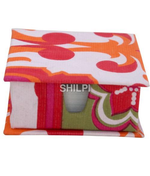 Pink and White Printed Slip Box with 150 handmade paper note slips