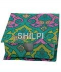 Green Printed Slip Box with 150 handmade paper note slips