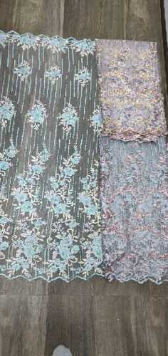 Embroidery Beaded Net Fabric
