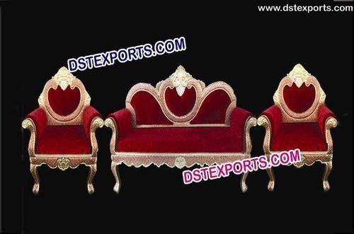 Wedding Red Metal Sofa Set