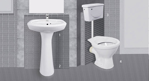 Modern sanitary ware suite