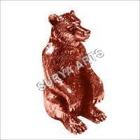 Metal Bear Figurine