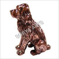Copper Plated Dog Statue