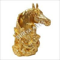 24K Gold Plated Horse Statue