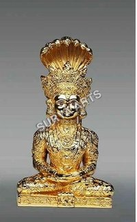 Gold Plated Buddha Statue