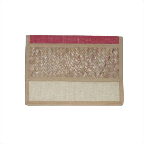 Ethnic Itinerary Holder Jute & Assam Mat Combinati