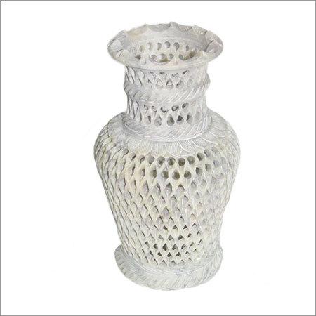 Under Cut Stone Flower Vase