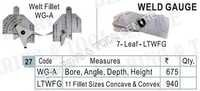 Leaf Type Weld Gauge