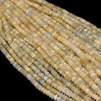 WELO FIRE ETHIOPIAN OPAL  14 INCH 10MM PLAIN RONDELLE BEADS WITH CLASP