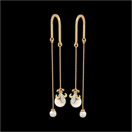 Ladies Gold Earings