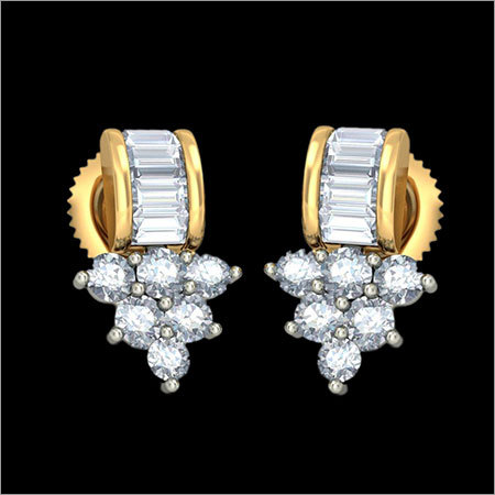 Diamond Stud Gold Earings