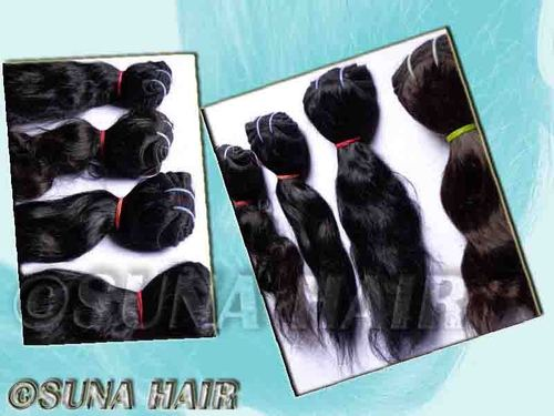 Remy natural pure brown color silky curly human hair