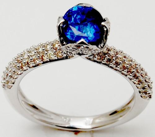 White Gold Diamond Gemstone Ring