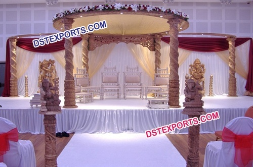 Indian Wedding Carved Mandap