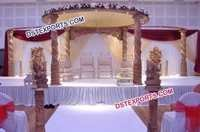 Indian Wedding Carved Mandap
