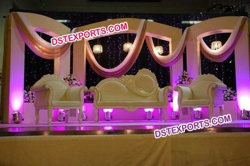 Asian Wedding Decorated Stage