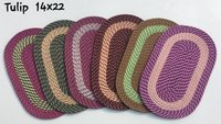 MULTI COLOUR OVAL DOOR MAT