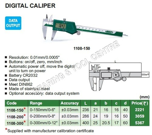 Digital Vernier Caliper With Data Output