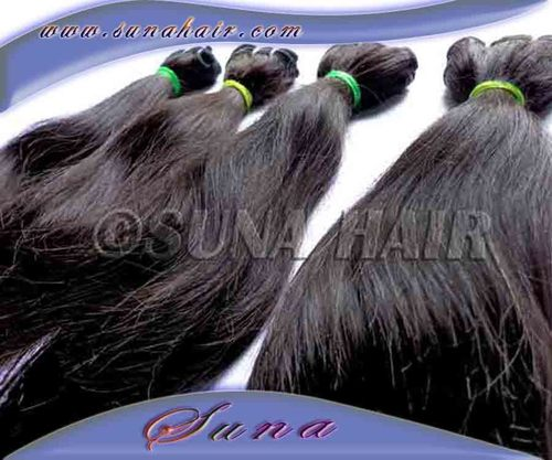 INDIAN NATURAL MACHINE WEFT GOOD QUALITY SILKY CURLY HAIR EX