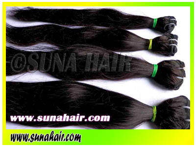 Unprocessed top quality silky curly machine weft remy virgin hair