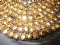 6-7mm faceted box 8 inch  starnd gold pyrite beads