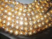 7-8mm faceted box 8 inch  starnd gold pyrite beads