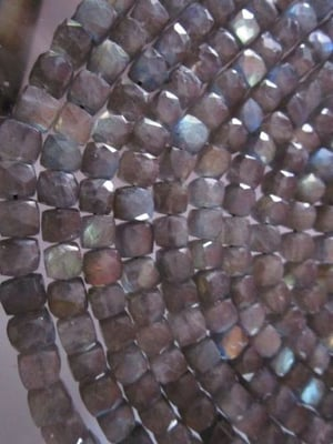 8inch labradorite 5-6mm faceted box beads
