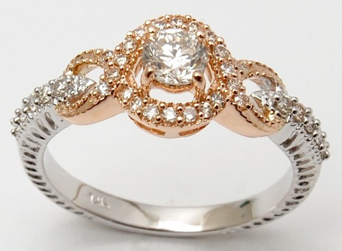 Two Tone Gold Engagement Ring