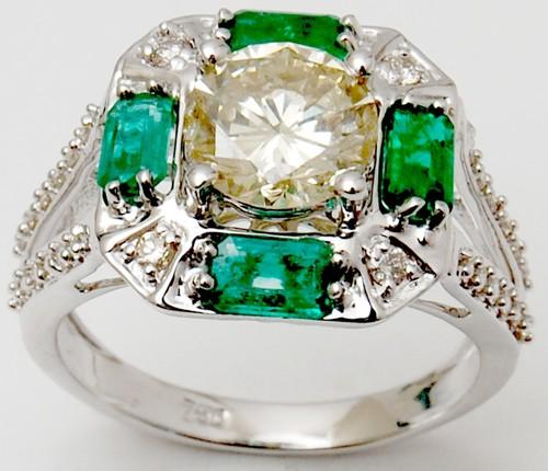 Big round brilliant cut diamond ring