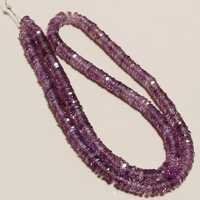 16 inch brazil amethyst faceted tyre bead one strand 5mm-6mm 260 pcs