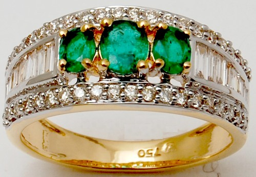 real gemstone solid gold ring