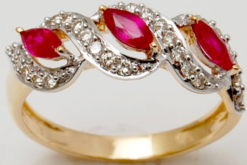 Affordable ruby diamond gold ring