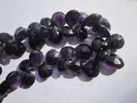8 inch amethsyt 6x8mm to 12x14mm faceted briolettes beads one strand