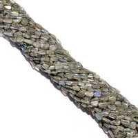 13 inch labradorite pear 4x6mm to 4x7mm  beads single strand