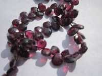 8 inch hydrabadi garnet 5x7mm to 6x8mm faceted briolettes beads one strand