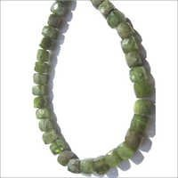 8 inch vassonite 6mm  faceted box beads one strand