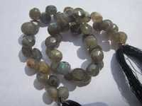 8 inch labradorite 7.5mm faceted onion beads one strand